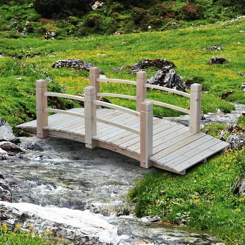 Outsunny Wooden Garden Bridge Arc