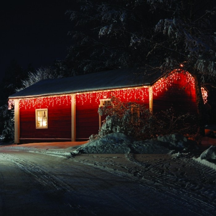 ICELITE Solar Icicle String 110 LED Lights For Holiday Or Party - Thumbnail 1