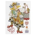 Bucilla Alma Lynne Counted Cross Stitch Queen Bee Kit - YELLOW - Thumbnail 0