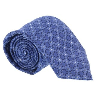 Canali Blue Geometric- Floral Tie - 59-3