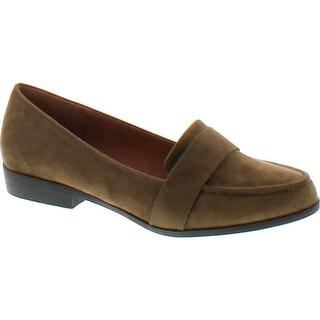 Static Footwear Harry-1 Women's Slip On Block Heel Loafers