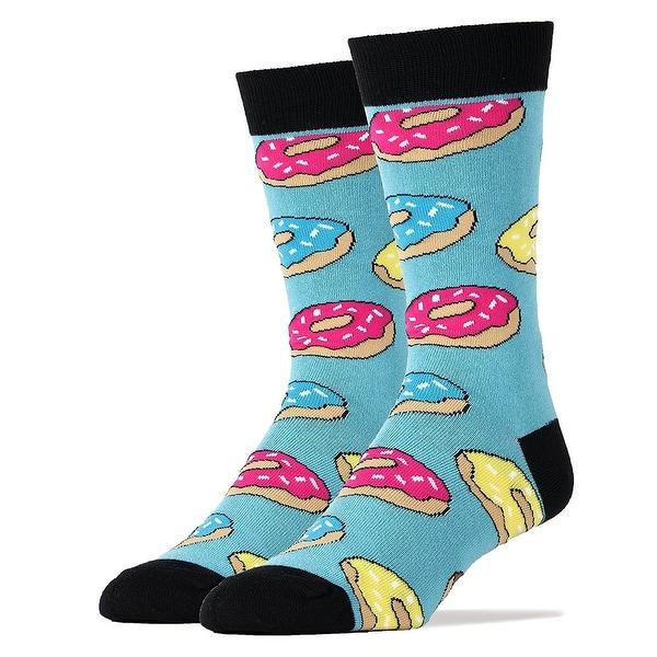 Donut Magic Men's Crew Socks - Blue