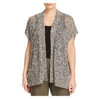Eileen Fisher Womens Plus Cardigan Sweater Linen Knit