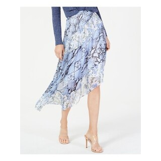Link to INC Womens Blue Printed Knee Length Skirt  Size 2 Similar Items in Skirts