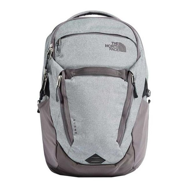 7d16f0906 Shop The North Face Women's Surge Backpack High Rise Grey Light  Heather/Rabbit Grey - US Women's One Size (Size None) - Free Shipping Today  - Overstock - ...