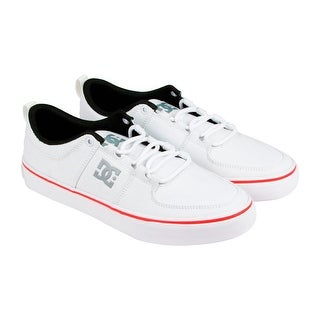 DC Lynx Vulc Tx Mens White Canvas Lace Up Sneakers Shoes
