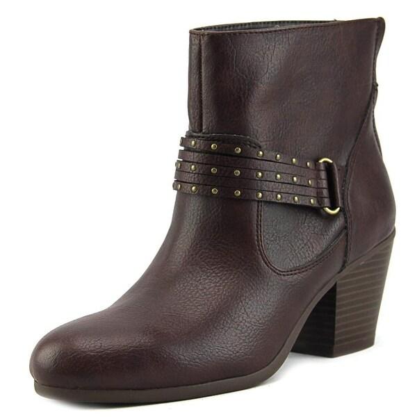 Aerosoles Longevity Women Round Toe Synthetic Brown Ankle Boot