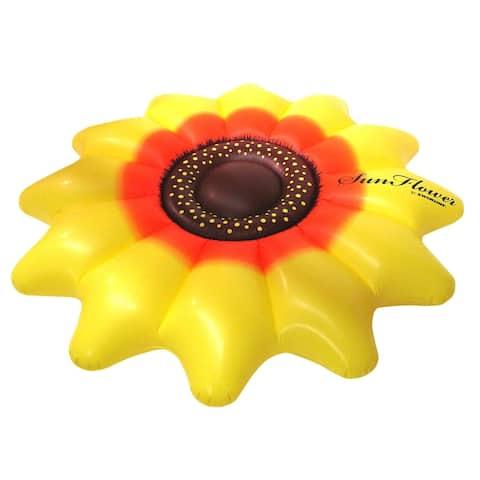 "Swimline 90543 Sunflower Swim Float, Yellow, 68-1/2"" Lx68-1/2"" Wx12"" H"
