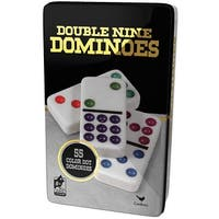Double 9 Dominoes in Tin