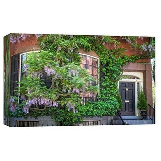"PTM Images 9-103833  PTM Canvas Collection 8"" x 10"" - ""Louisburg Square"" Giclee Houses Art Print on Canvas"