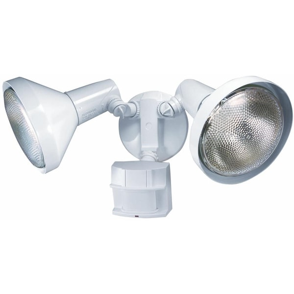 Heath Zenith HZ-5412 2-Light 180 Degree Motion Activated Security Flood Light - White - n/a