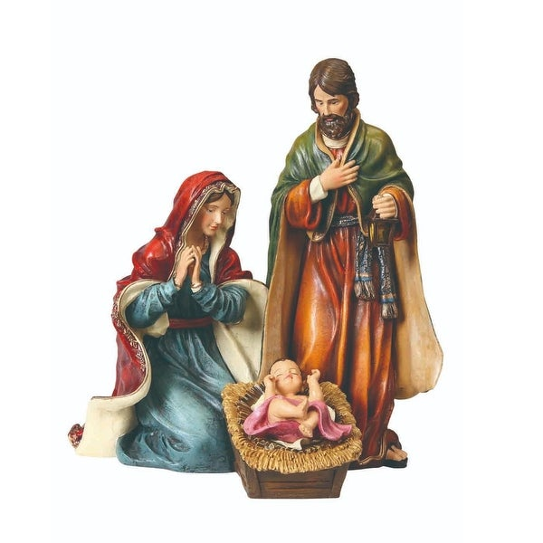 """Pack of 2 LED Musical Traditional Holy Family Christmas Table Top Figures 11.5"""" - BLue"""