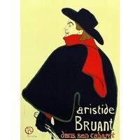 ''Aristide Bruant'' by Henri de Toulouse-Lautrec Vintage Advertising Art Print (38.75 x 27.5 in.)