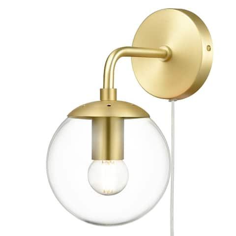 Light Society Greta Globe Plug-In Wall Sconce
