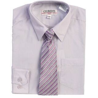 Lilac Button Up Dress Shirt Lilac Striped Tie Set Boys 5-18|https://ak1.ostkcdn.com/images/products/is/images/direct/a47155dce6cda4e92bd648368239c5060467c7cb/Lilac-Button-Up-Dress-Shirt-Lilac-Striped-Tie-Set-Boys-5-18.jpg?impolicy=medium
