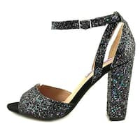 Betsey Johnson Womens GLISSEN Open Toe Ankle Strap D-orsay Pumps - 6.5