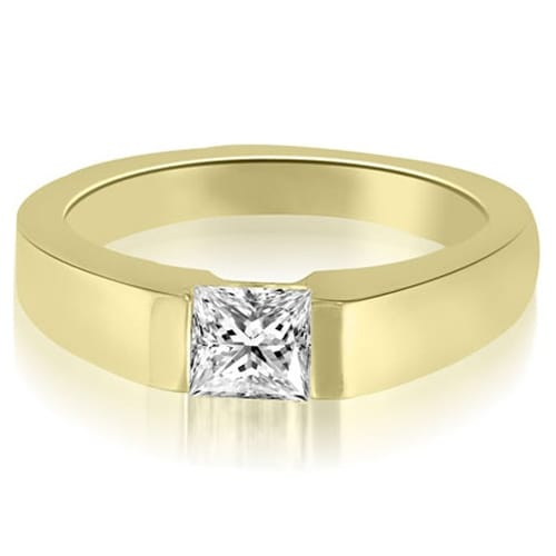 0.50 cttw. 14K Yellow Gold Princess Cut Diamond solitaire Engagement Ring
