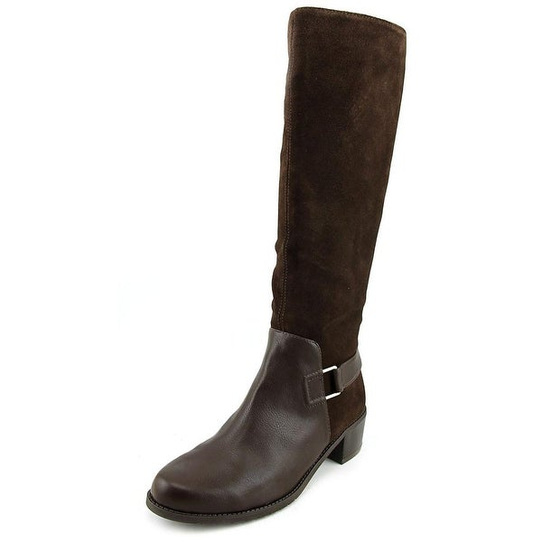Aerosoles After Hours Women Round Toe Leather Brown Knee High Boot