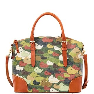 Dooney & Bourke Camouflage Duck Domed Satchel (Introduced by Dooney & Bourke at $328 in Dec 2014) - Green