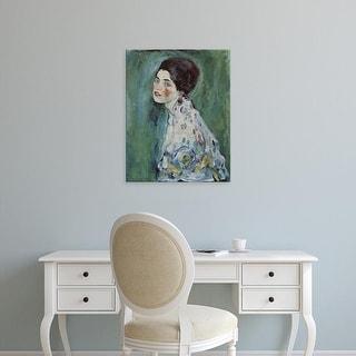 Easy Art Prints Gustav Klimt's 'Portrait of a Lady' Premium Canvas Art