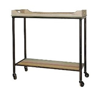 Wood Top Seving Cart With Bottom Rack