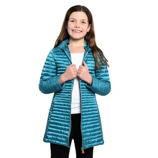 Save The Duck Lightweight Girls 3/4 Jacket In Turquoise