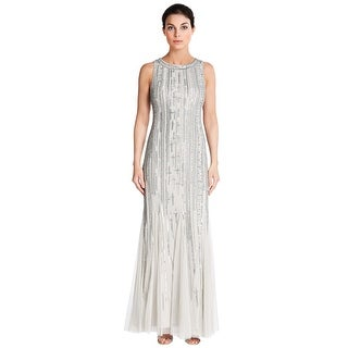 Aidan Mattox Sleeveless Bead Embellished Evening Gown Dress - 2