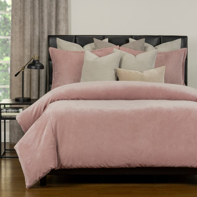 Mixology Padma 10 Piece Duvet Cover and Insert Set - French Pink - King