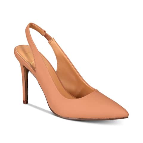 Material Girl Womens DARCIE Closed Toe SlingBack Classic Pumps