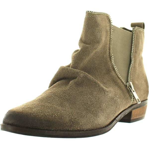 Naughty Monkey Women's Zip Dee Doo Chelsea Boot - taupe - 6.5 b(m) us