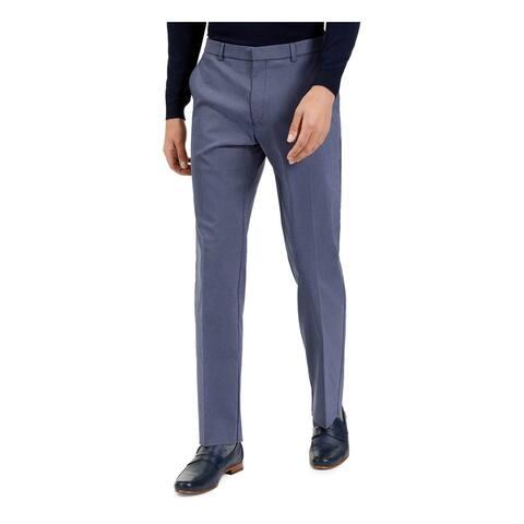 TOMMY HILFIGER Mens Navy Check Work Pants Size 32W X 30L - 32W X 30L