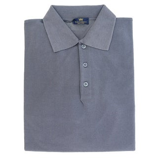 Real Cashmere Polo Big Mens Indigo Sweater