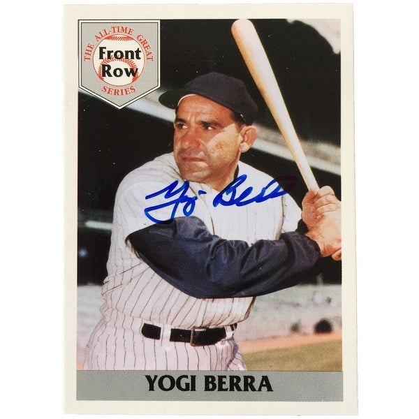 7ca49381aff ... Collectibles     Sports Memorabilia     Football. Yogi Berra Signed New  York Yankees Card Front Row 92 SI  3