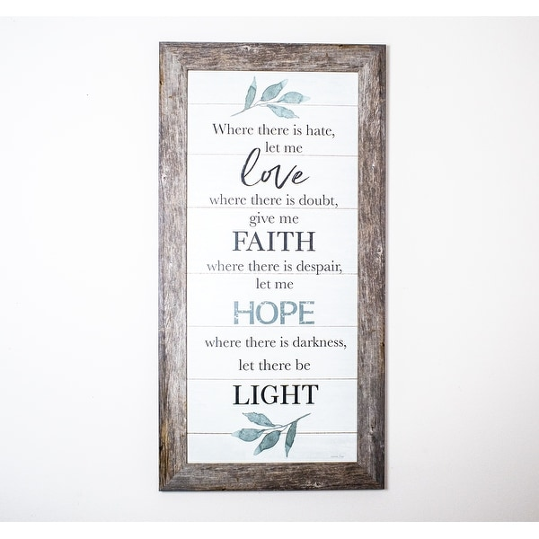 Where There Is Hate Let Me Love, Faith, Hope and Light Religious Decor Art Vertical. Opens flyout.