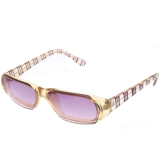 Unique Bargains Rectangular Design Full Frame Single Bridge Sunglasses for Women Men