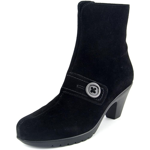 La Canadienne Dorthea Women  Pointed Toe Suede Black Ankle Boot