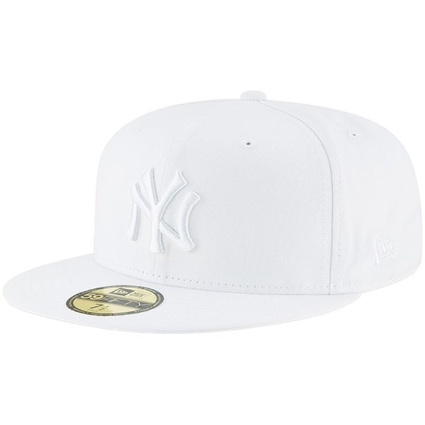 277626a1 Shop New Era Mens New York Yankees Mlb Authentic Collection 59Fifty Cap,  White/White - 7 1/2 - On Sale - Free Shipping On Orders Over $45 -  Overstock - ...