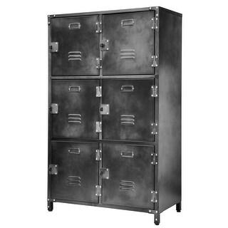 Allspace 6 Door Locker with Dark Weathered Finish SCRATCH & DENT DEAL- 240124