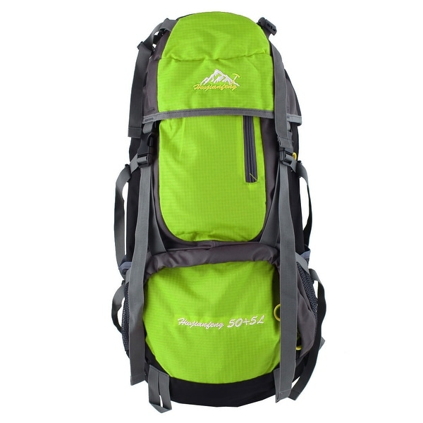 Unique Bargains HWJIANFENG Authorized Outdoor Trekking Pack Sport Bag Hiking Backpack Green 55L