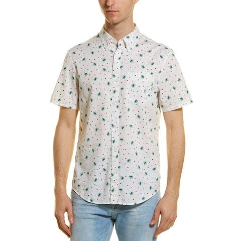 Original Penguin Heritage Slim Fit Printed Woven Shirt