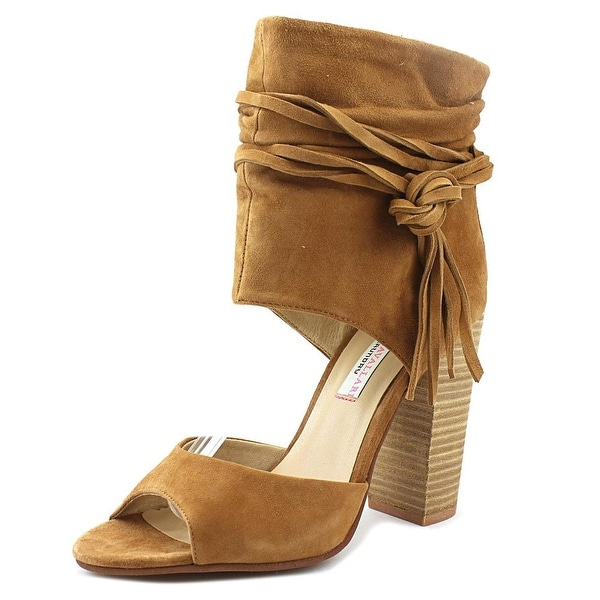 Chinese Laundry Kristin Cavallari Leigh-2 Women Open Toe Suede Tan Sandals