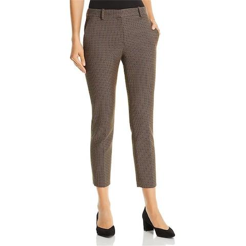 Theory Womens Dot Jacquard Casual Cropped Pants