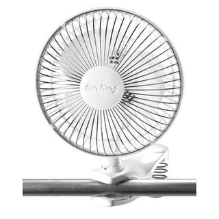 Air King 9145 6 Inch 190 CFM 2-Speed Commercial Grade Spring Loaded Clip-On Office Fan with Adjustable Head from the Hassock &