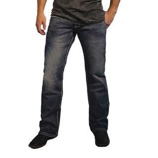 B. Tuff Western Jeans Mens Denim Barbed Late Night Dark Wash MLTNIT