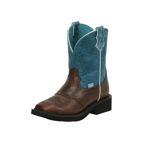 Shop Justin Western Boots Womens Cowgirl Broad Square Toe