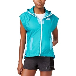Nike Womens Athletic Jacket Vest Hooded - L