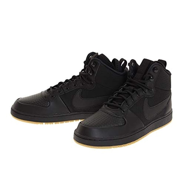 best loved 0e7fe 3f010 Shop Nike Men s Ebernon Mid Winter Shoe, Black Black-Gum Light Brown - Free  Shipping Today - Overstock - 27125754