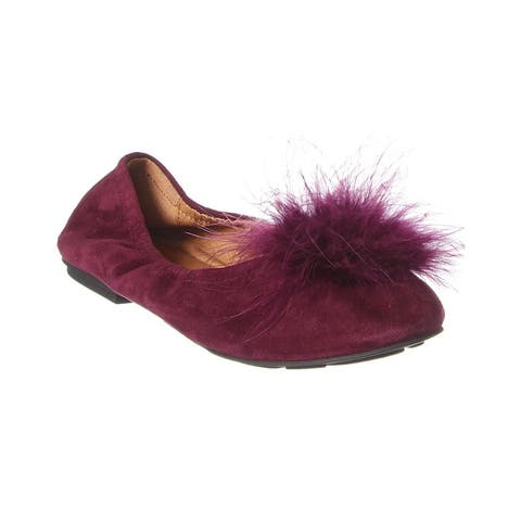 Gentle Souls By Kenneth Cole Portia Pompom Suede Flat