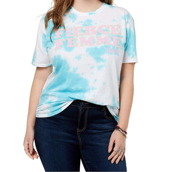 126d3eb523 Shop Barbie x Love Tribe Blue Womens Size 1X Plus Tie-Dye T-Shirt Top -  Free Shipping On Orders Over  45 - - 27491412