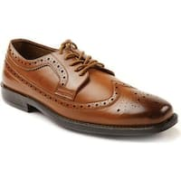 Deer Stags Men's Taylor Oxford Luggage Simulated Leather